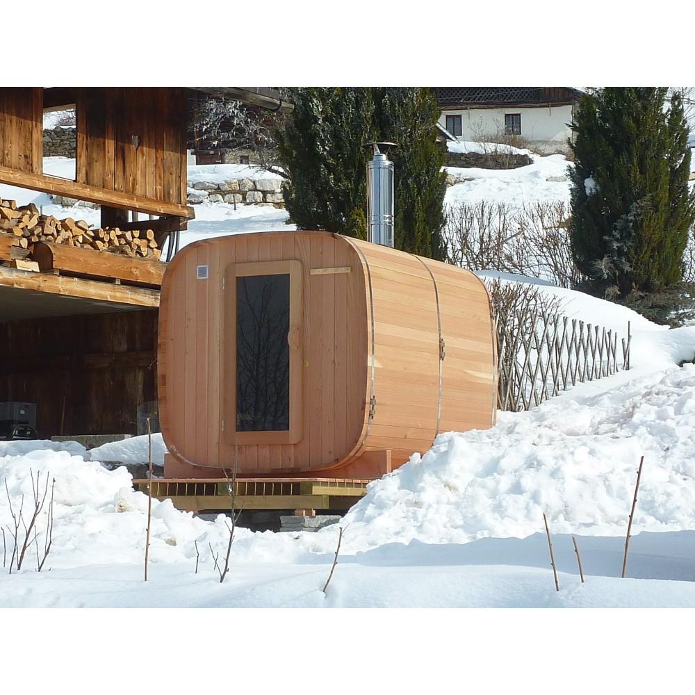 Sauna Extrieur Chauffage Bois Authentique Esprit Nordique  Obiozz
