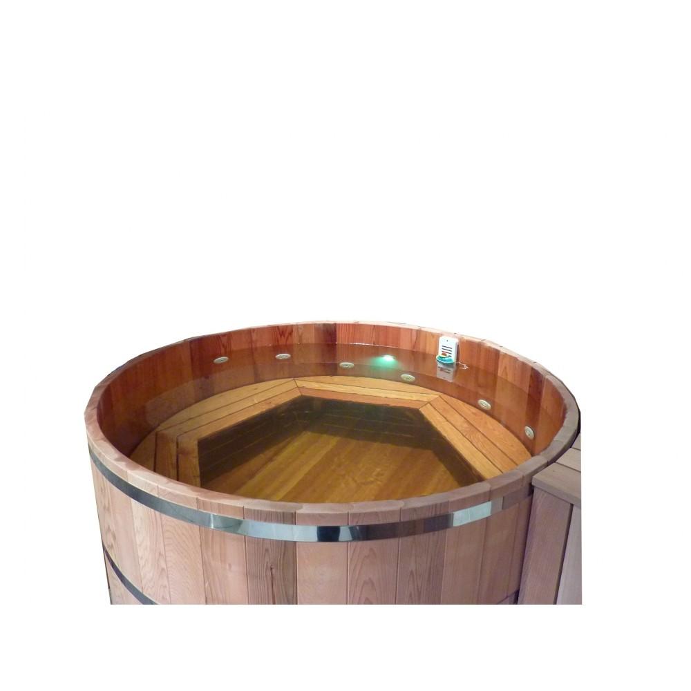 jacuzzi en bois authentique fabriqu par obiozz. Black Bedroom Furniture Sets. Home Design Ideas