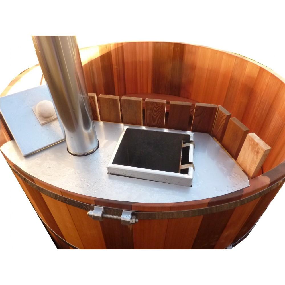 Chauffage au bois immergé pour spa , bain nordique et piscine # Poele A Bois Pour Bain Nordique
