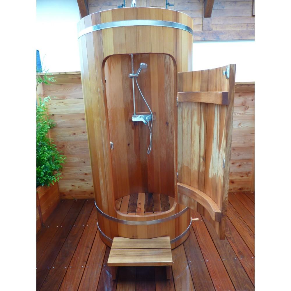 Douche en bois exterieure - Cabine douche exterieure ...