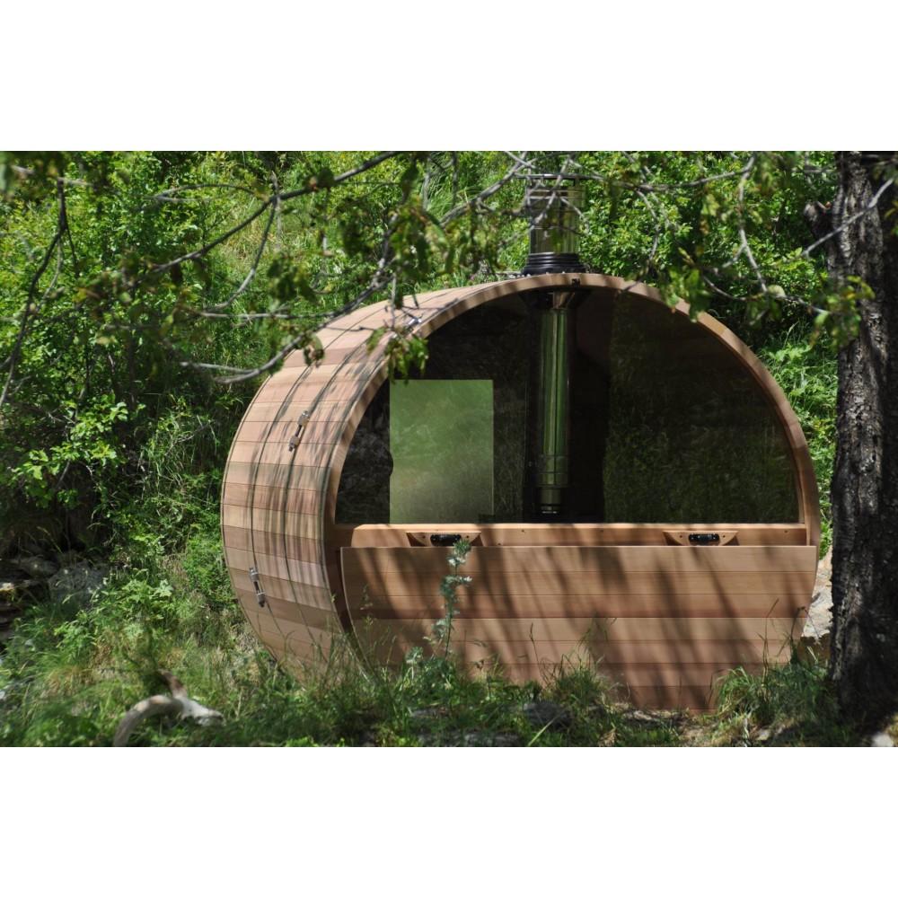 Sauna Extérieur Chauffage Bois Authentique Esprit Nordique - Obiozz