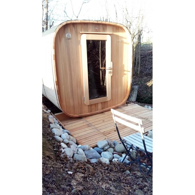 Sauna extérieur 2 / 4 personnes version chauffage électrique
