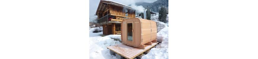 Sauna ext rieur chauffage bois authentique esprit nordique for Chauffage au bois exterieur