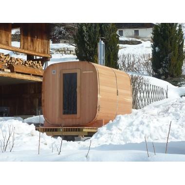 Sauna extérieur 2 / 4 personnes version chauffage bois