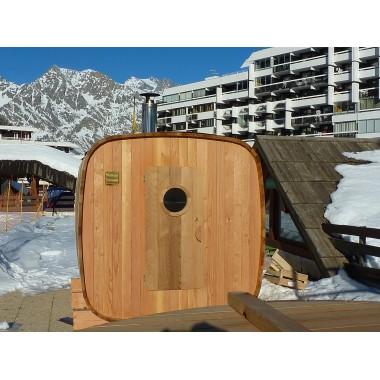 Sauna extérieur  4 / 6 personnes version chauffage bois
