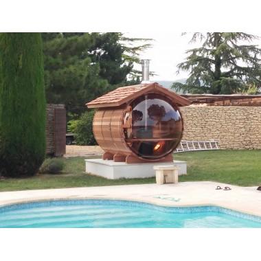 Sauna bulle chauffage bois